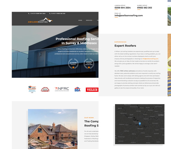 A Wilson Roofing Website