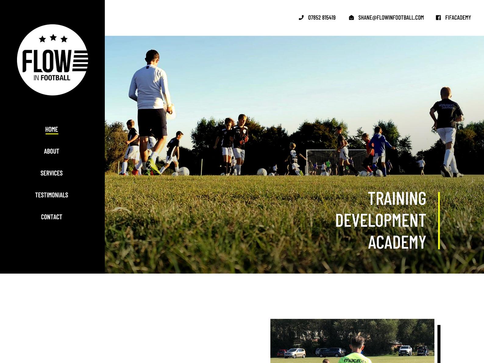 Football Training Website