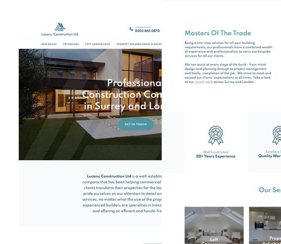 Lucanu Construction Website