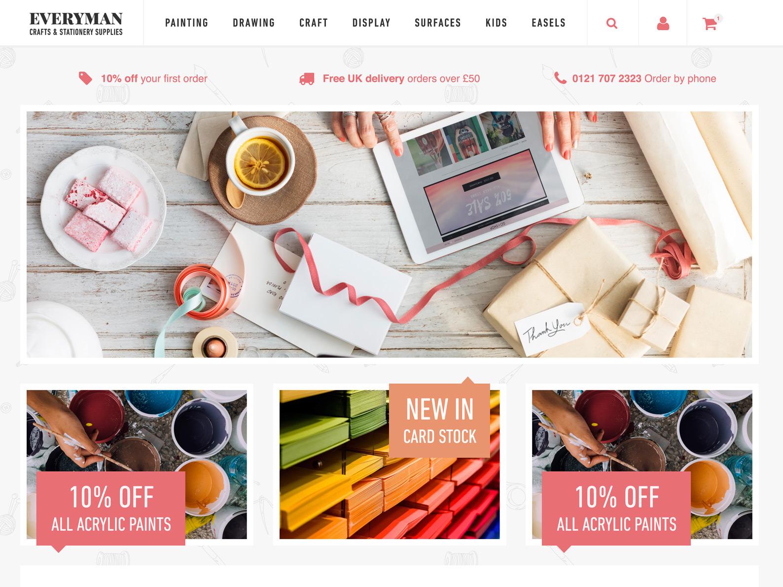 Stationery eCommerce Website
