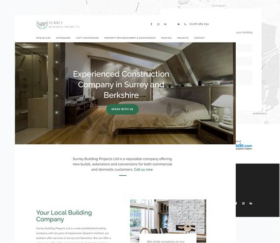 Surrey Building Projects Website