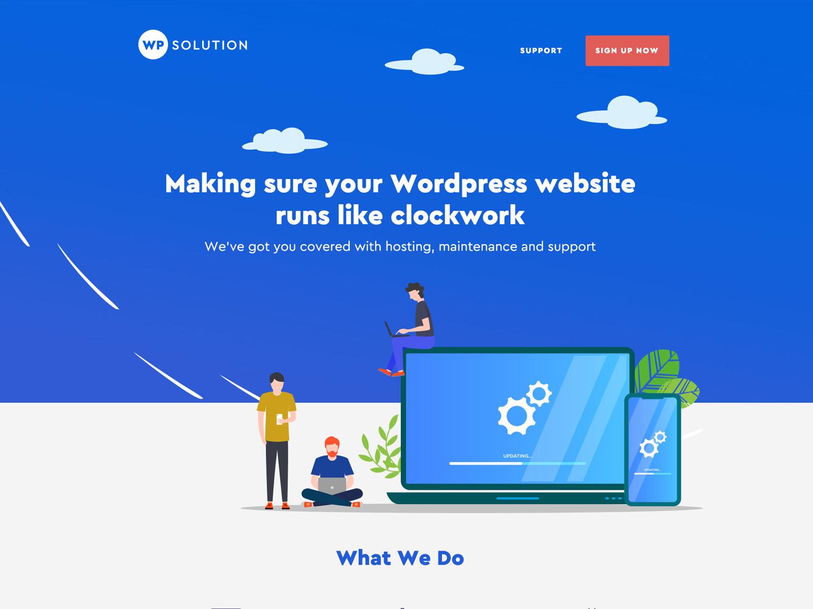 WordPress Care Plan Website
